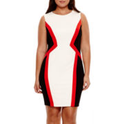 Bisou Bisou® Sleeveless Textured Colorblock Dress - Plus