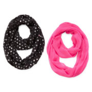 Capelli of New York 2-pk. Loop Scarves - Girls One Size