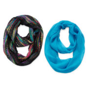 Capelli of New York 2-pk. Slub Scarves - Girls One Size