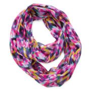 On the Verge Geo-Print Infinity Scarf - Girls One Size