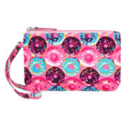 On the Verge Donut-Print Wristlet - Girls