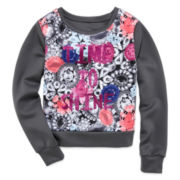 Total Girl® Cropped Scuba Sweatshirt - Girls 7-16 and Plus