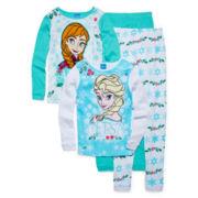 Disney Frozen 4-pc. Pajama Set - Toddler Girls 2t-4t