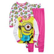 Despicable Me Minion 4-pc. Pajama Set - Girls 4-10