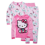 Hello Kitty® 4-pc. Pajama Set - Girls 4-10