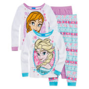 Disney Frozen 4-pc. Pajama Set - Toddler Girls 2t-4t