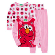 Elmo 4-pc. Pajama Set - Toddler Girls 2t-4t