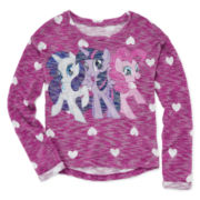 My Little Pony Heart-Print Sweater - Girls 7-16