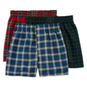 Hanes®3-pk. ComfortFlex® Knit Boxers - Boys
