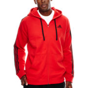 adidas® Essential Cotton Full-Zip Fleece Hoodie