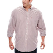 IZOD® Long-Sleeve Easy-Care Poplin Shirt - Big & Tall