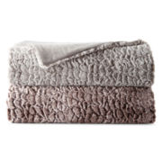 JCPenney Home™ Sculpted Faux-Fur Throw