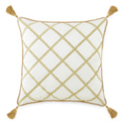 "Royal Velvet® San Marco 18"" Embroidered Square Decorative Pillow"