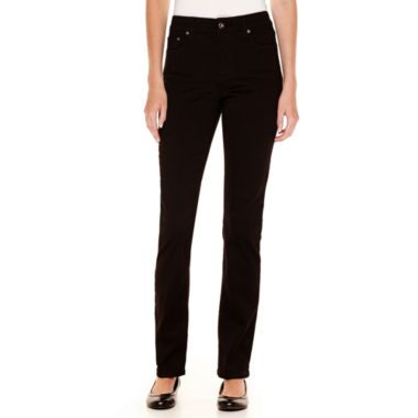 jcpenney.com | St. John's Bay® Secretly Slender Straight-Leg Jeans - Tall