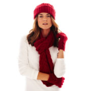 Liz Claiborne Cable Knit Beanie, Scarf or Gloves