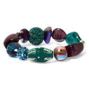 Aris by Treska Teal & Purple Chunky Bracelet