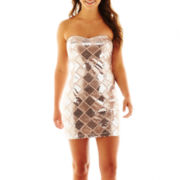 Trixxi® Strapless Sequin Dress