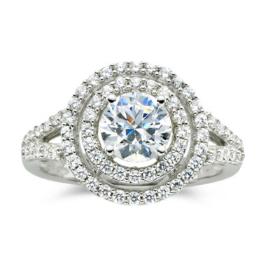 jcpenney.com | DiamonArt® 1½ CT. T.W. Cubic Zirconia Double Halo Ring
