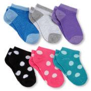 Maidenform 6-pk. Fashion No-Show Socks - Girls