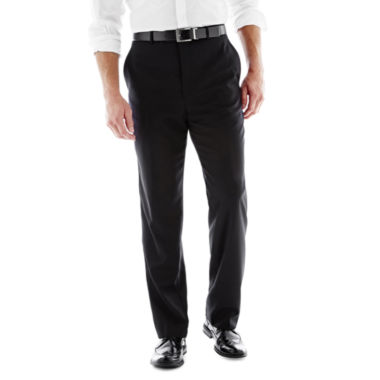 jcpenney.com | Stafford® Executive Super 100 Wool Flat-Front Suit Pants - Classic - Black