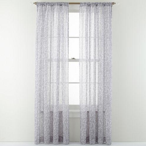Royal Velvet® Balmoral Rod-Pocket Sheer Panel