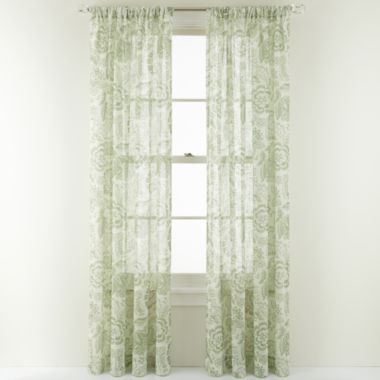 jcpenney.com | MarthaWindow™ Tuileries Rod-Pocket Sheer Panel