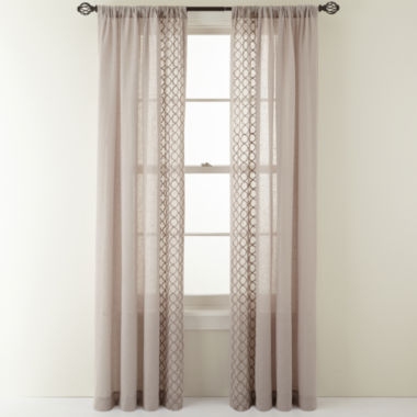 jcpenney.com | MarthaWindow™ Rhapsody Rod-Pocket Sheer Panel