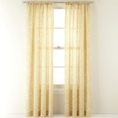 jcpenney.com | MarthaWindow™ Emporium Rod-Pocket/Back-Tab Curtain Panel