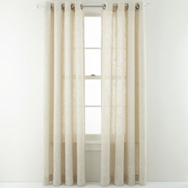 jcpenney.com | MarthaWindow™ Meridian Leaf Grommet-Top Curtain Panel