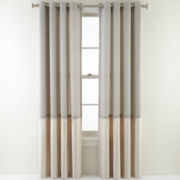 Royal Velvet® Reid Two-Tone Grommet-Top Curtain Panel