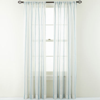 jcpenney.com | MarthaWindow™ Providence Stripe Rod-Pocket Sheer Panel