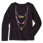 Total Girl® Long-Sleeve Tee - Girls 6-16 and Plus