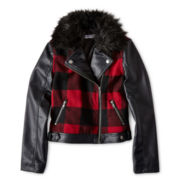 Sally M™ Sally Miller Plaid Moto Jacket - Girls 6-16