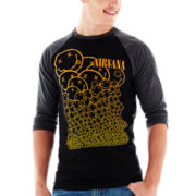 Nirvana Smiles Raglan-Sleeve Graphic Tee