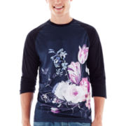 Tabletop Flowers Mesh Raglan Tee