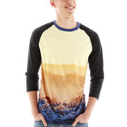 Morning Deer Mesh Raglan-Sleeve Tee