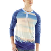 Mountains Raglan-Sleeve Henley