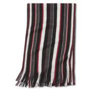 JF J. Ferrar® Raschel Variegated-Stripe Scarf