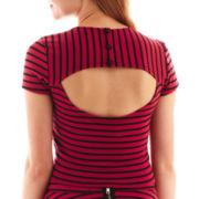 Olsenboye® Cap-Sleeve Crop Top