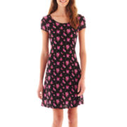 Olsenboye® Cap-Sleeve Print Dress