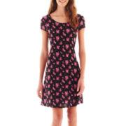 Olsenboye® Cap-Sleeve Print Dress