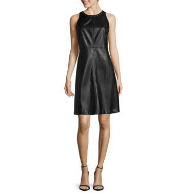 jcpenney.com | Worthington® Sleeveless Faux Leather Shift Dress
