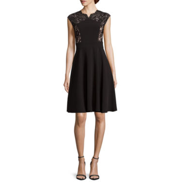 jcpenney.com | London Style Collection Cap-Sleeve Fit-and-Flare Dress - Petite