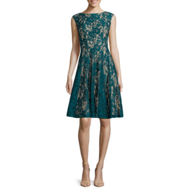 jcpenney.com | Danny & Nicole® Sleeveless Lace Fit-and-Flare Dress - Petites
