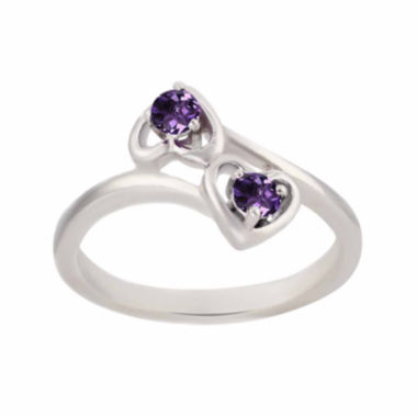 jcpenney.com |  Genuine Amethyst Sterling Silver Two Heart Ring