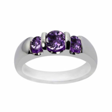 jcpenney.com |  Genuine Amethyst Sterling Silver Three Stone Ring
