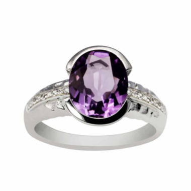 jcpenney.com |  Genuine Amethyst Sterling Silver Oval Ring