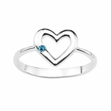 jcpenney.com |  Genuine Blue Topaz Sterling Silver Heart Ring