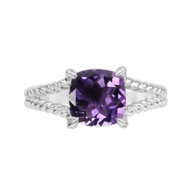 jcpenney.com |  Genuine Amethyst Sterling Silver Cushion Ring