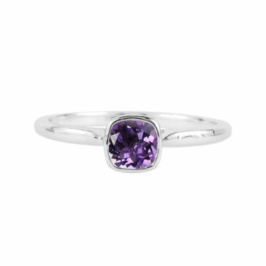 jcpenney.com |  Genuine Amethyst Sterling Silver Checkerboard Cushion Ring
